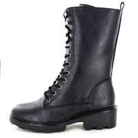 Seven Dials Womens Kelci Closed Toe Mid-Calf Combat Boots