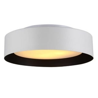 """Bromi Design B4106 Lynch 3 Light 15-3/4"""" Wide Flush Mount Drum Ceiling Fixture with Glass Shade"""
