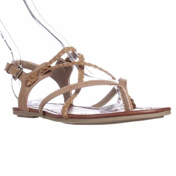 MIA Adrianna Flat Gladiator Sandals, Nude