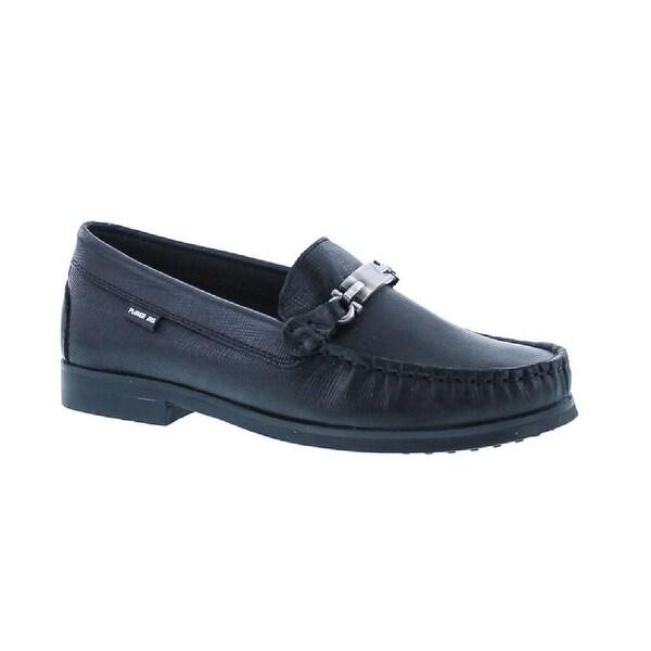 Pliner Jrs Boys Pl55-Drake Designer Buckle Dress Slip On Loafers Shoes