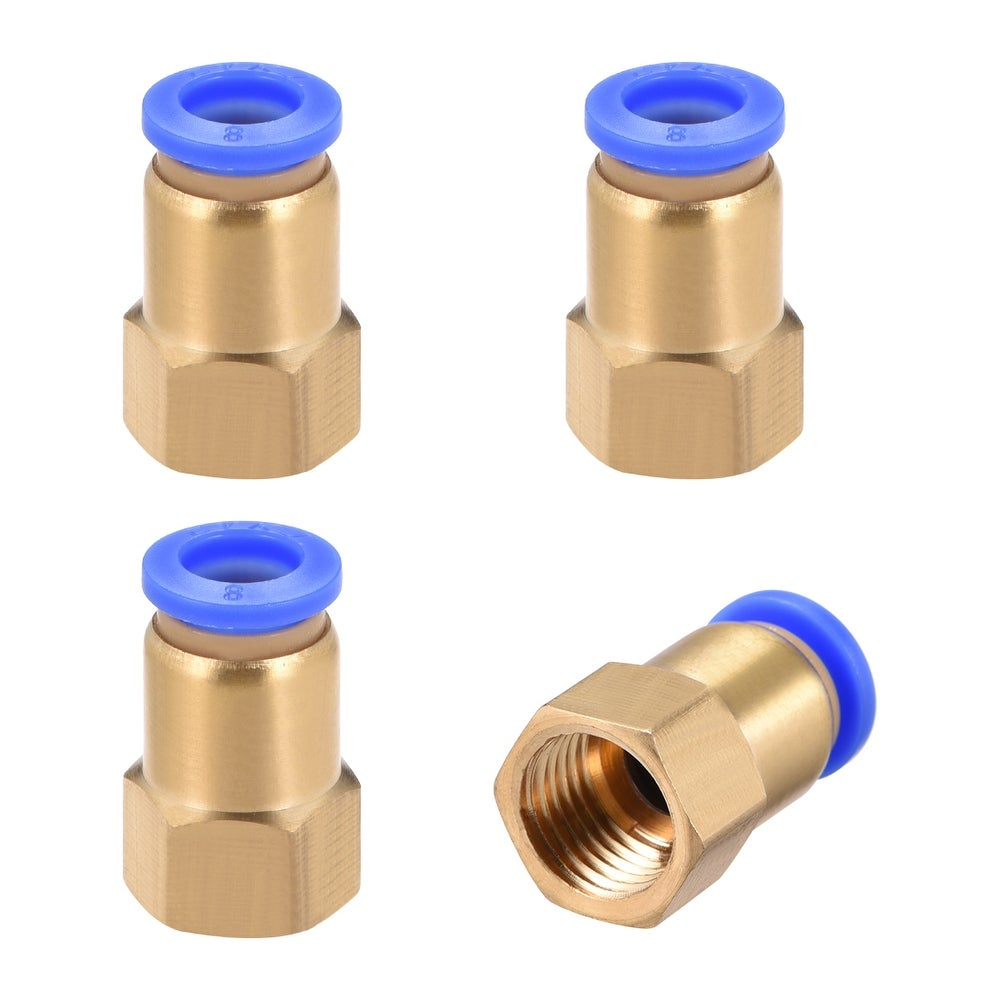 """10Pcs 1//4/"""" PT Male Thread 8mm Push In Joint Pneumatic Connector Quick FP"""