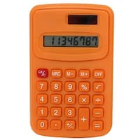 Unique Bargains Office LCD Display Portable Small Pocket Electronic Calculator Orange