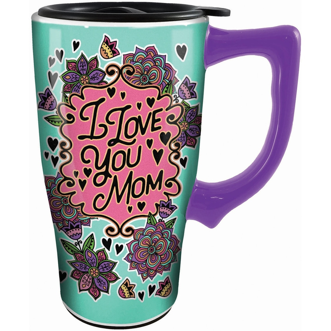 Free Shipping New Spoontiques Hand Over Coffee Travel Mug Brown