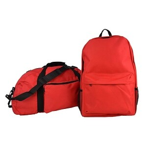 Set of 2 Duffel Bag and Back Pack, Ideal for Sports and Travelling