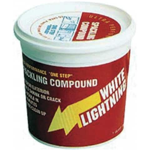 White Lightning 60512 Spackling Compound, 1/2 Pint