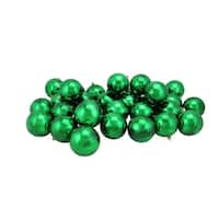 "32ct Shiny Xmas Green Shatterproof Christmas Ball Ornaments 3.25"" (80mm)"