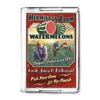 Hermiston OR Watermelon Vintage Sign LP Artwork (Acrylic Serving Tray)
