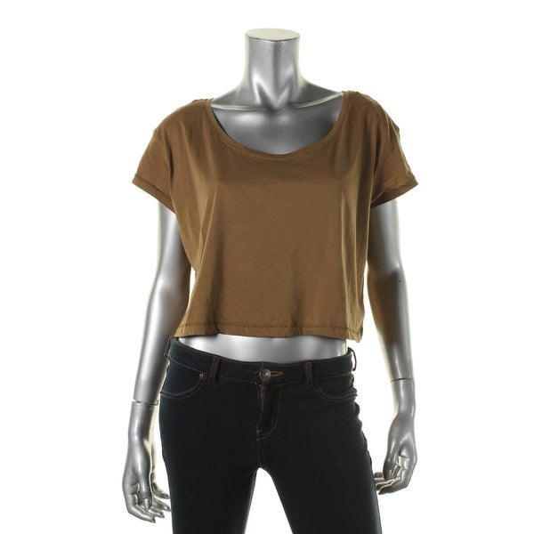 Zara W&B Collection Womens Organic Cotton Short Sleeves Crop Top