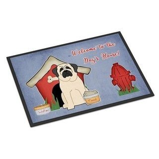 Carolines Treasures BB2771MAT Dog House Collection Mastiff White Indoor or Outdoor Mat 18 x 0.25 x 27 in.
