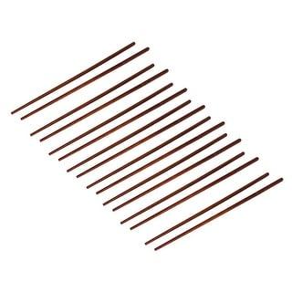 Unique Bargains 8 Pairs Wooden Chopsticks Kitchen Hot Pot Chop Sticks Coffee Color