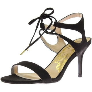 Qupid Womens Lita Faux Suede Dress Sandals
