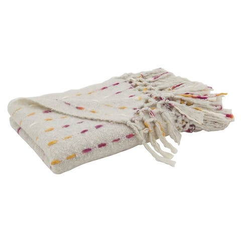 Faux Throw With Knotted Design