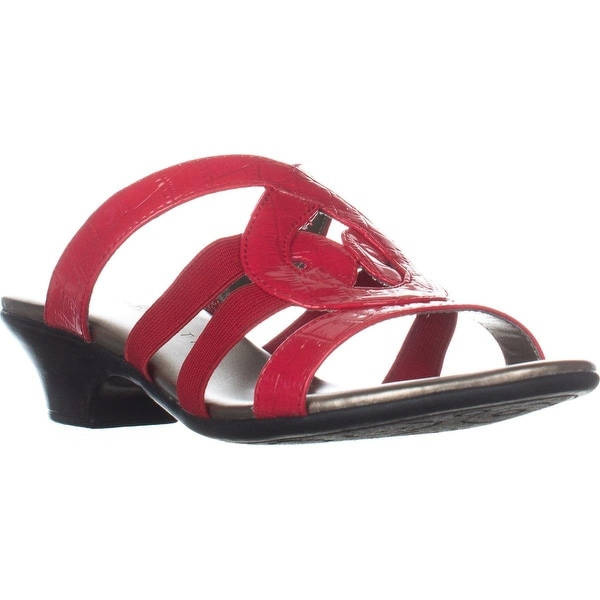 KS35 Emmee Strappy Dress Sandals, Red