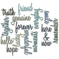 Friendship Script Words - Sizzix Thinlits Dies 16/Pkg By Tim Holtz