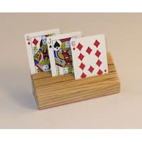Square Root SQ11 Wood Card Holder - Handcrafted Oak