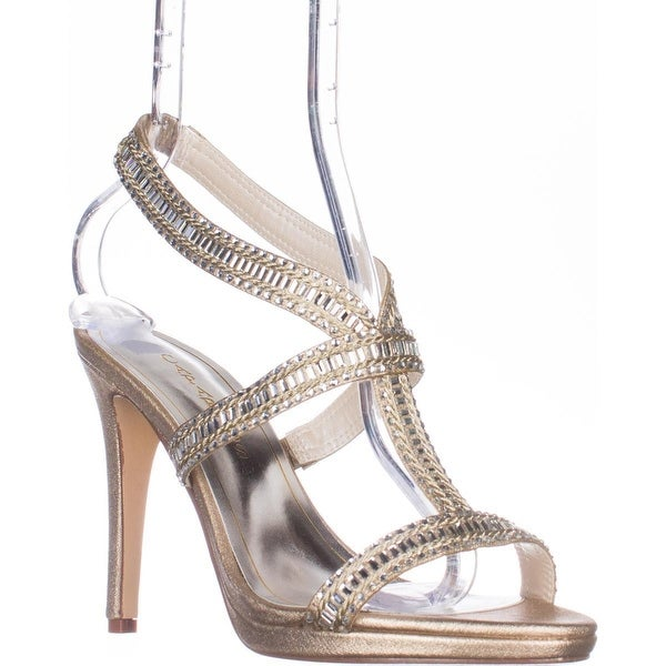 Caparros Givenchy Platform Dress Sandals, Gold Metalic