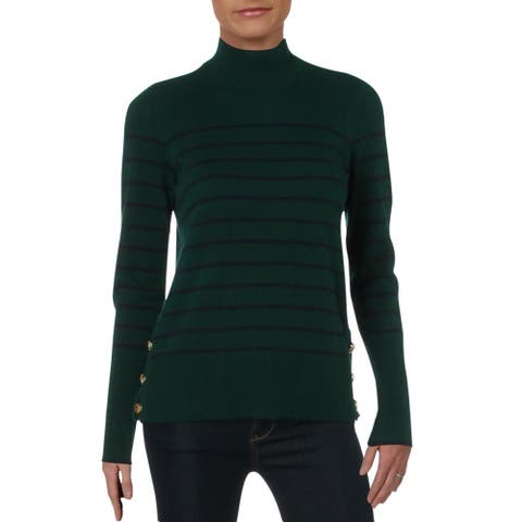 Lauren Ralph Lauren Aishya Women's Cashmere Striped Long Sleeve Pullover Sweater
