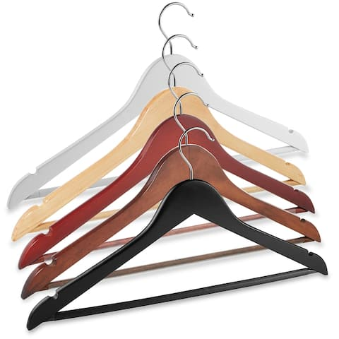 20 Wooden Suit Hangers by Casafield