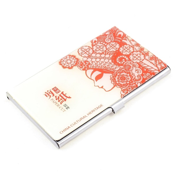 Unique bargains chinese feature paper cutting patter metal business unique bargains chinese feature paper cutting patter metal business card holder case colourmoves