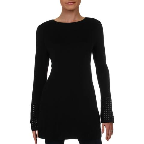 Nic + Zoe Womens Tunic Sweater Studded Bell Sleeve