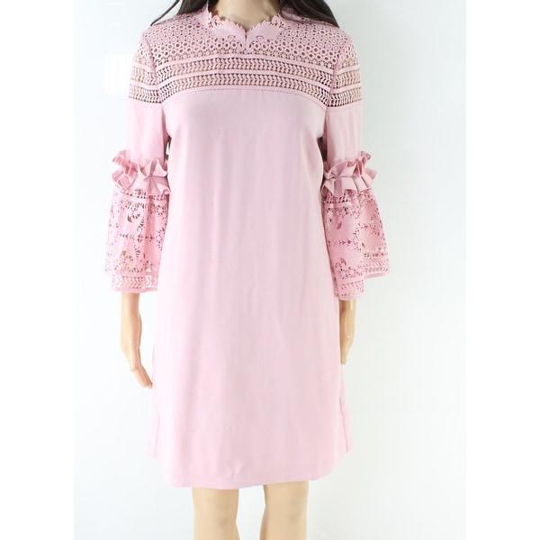 24fbd1e9c97 Shop Ted Baker Pink Women's Size 2 Ruffle Trim Lace Shift Dress ...