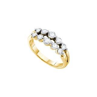 1 Ctw Diamond Fashion Band Yellow-Gold 14K
