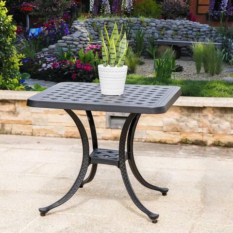 Elm Plus Cast Aluminium Patio Side Table