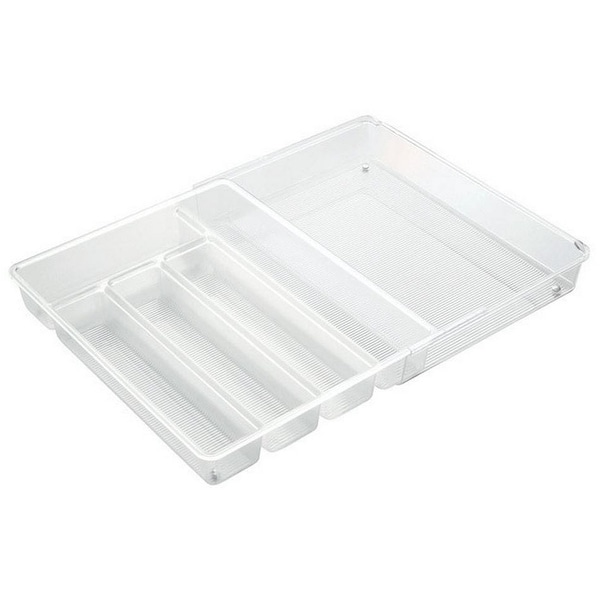 InterDesign 57430 Expandable Cutlery Organizer, Clear
