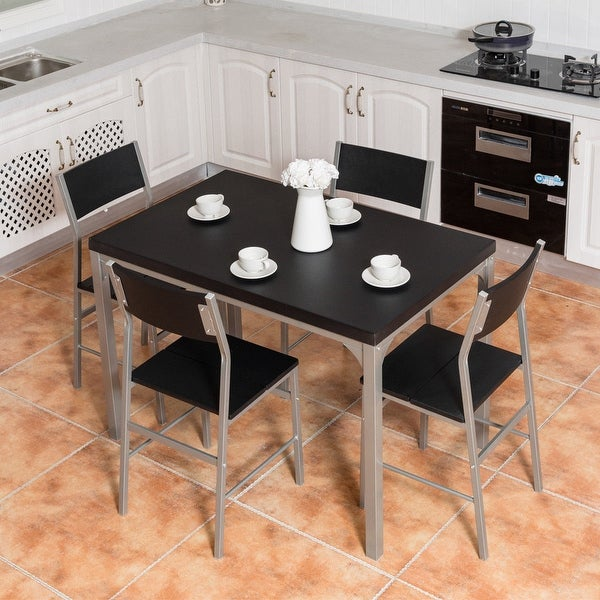 Kitchen Set For Sale: Shop Costway 5 Piece Dining Table & Chairs Set Wood Metal
