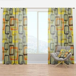 Link to Designart 'Retro Square Design VII' Mid-Century Modern Curtain Panel Similar Items in Window Treatments
