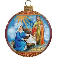 GDeBrekht 73552 3.5 in. Holy Family Glass Ball Ornament