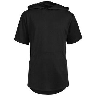 NE PEOPLE Mens Short Sleeve Hoodies with Kangaroo Pockets Top-NEMT79