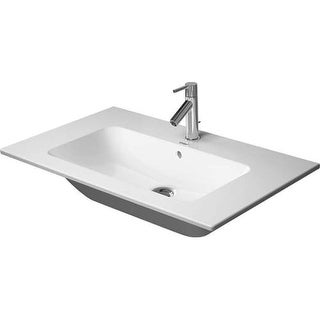 """Duravit 2336830000 ME By Starck 32-5/8"""" Ceramic Bathroom Sink for Vanity, Wall Mounted or Pedestal Installations with Single"""