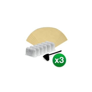 Replacement Coffee Filter Kit for Cuisinart DCCRWF / 624412 (3-Pack)