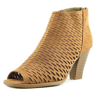 CL By Laundry Reagan   Open-Toe Suede  Bootie