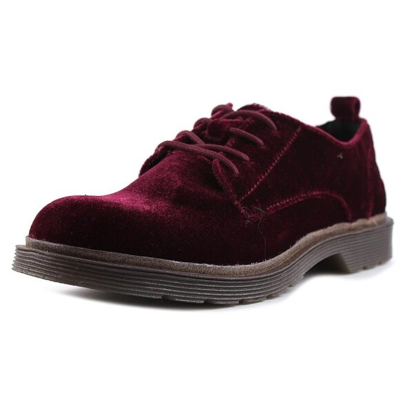 Coolway Claire Women Round Toe Canvas Burgundy Oxford