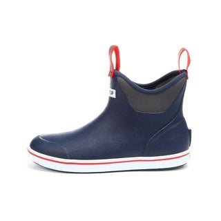 Xtratuf Men's Navy Blue/Red Size 9 Slip-on Ankle Deck Boot