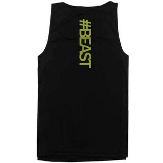#Beast Neon Back Print Mens Work Out Tank Top Gym Sleeveless Beast Tanks