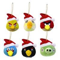 "Club Pack of 24 Angry Birds Mini Plush Christmas Ornaments 2.5"" - multi"