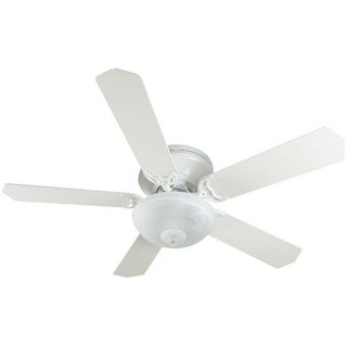 """Craftmade K11165 Pro Contemporary Flushmount 52"""" 5 Blade Hugger Indoor Ceiling Fan with Light Kit and Blades Included"""