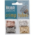 Beadsmith 4 Color Variety Pack Plated Crimp Beads 2x2mm (500 Total) - Thumbnail 0