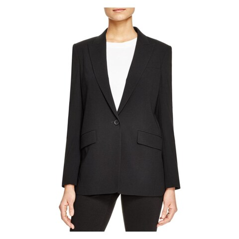 DKNY Womens Petites One-Button Blazer Open Back Long Sleeve