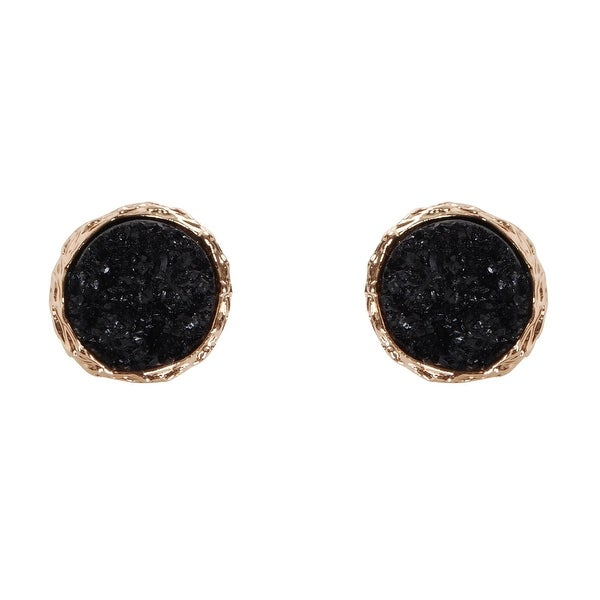 a60b491e8 Humble Chic Round Simulated Druzy Studs - Sparkly Bezel Set Circle Post  Earrings