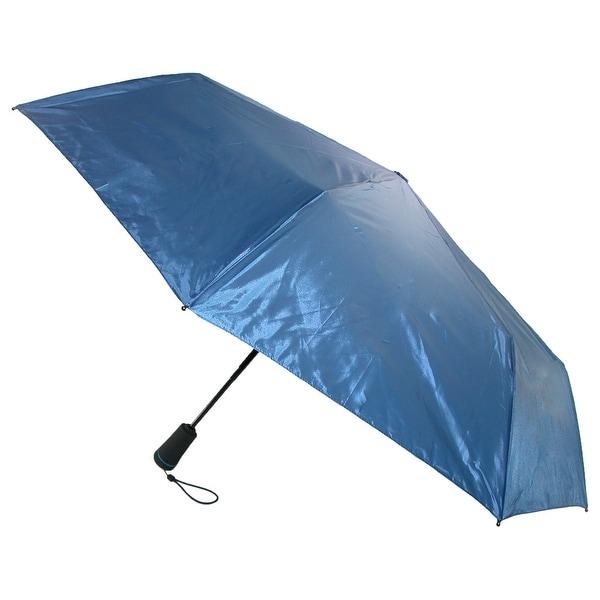 Totes Men's Solo Auto Open and Close Compact Umbrella