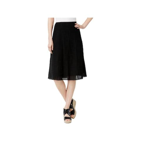 Eileen Fisher Womens A-Line Skirt Jacquard Voile Box
