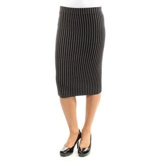Womens Black Striped Wear To Work Skirt Size XXL