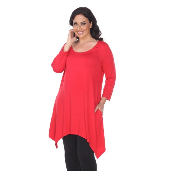054f28dbe9 Shop Plus Size Makayla Tunic Top - Red - On Sale - Free Shipping On ...