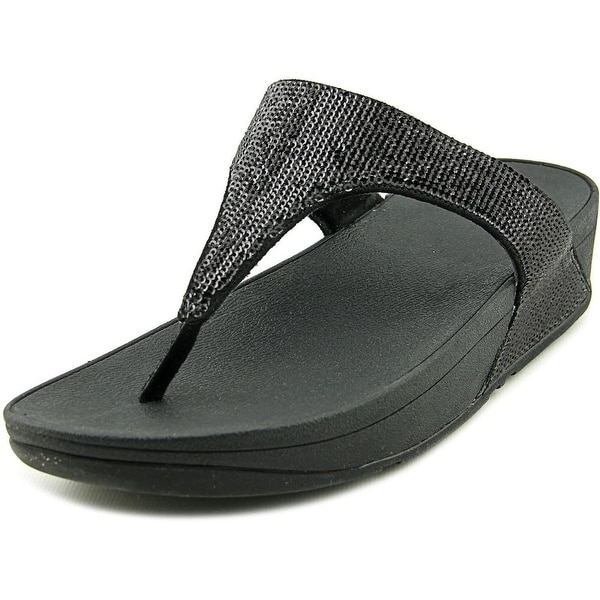 FitFlop Electra Women Open Toe Synthetic Black Thong Sandal