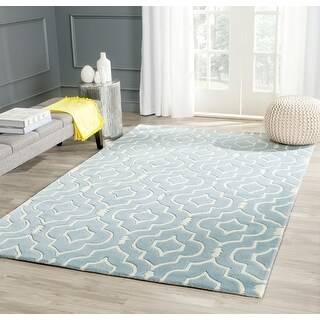 Link to Safavieh Handmade Chatham Gustie Modern Moroccan Wool Rug Similar Items in Transitional Rugs