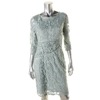 Adrianna Papell Womens Petites Lace Party Cocktail Dress - 12P